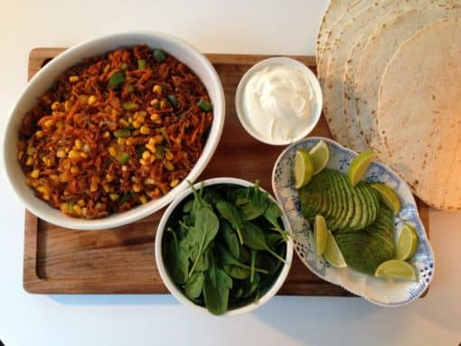 Mexicanske wraps i actifry
