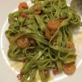 Pasta Carbonara i actifry med rejer
