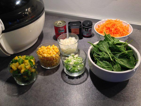 Actifry grøntsager