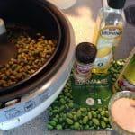 Kikærter edemame ærter snacks i Actifry