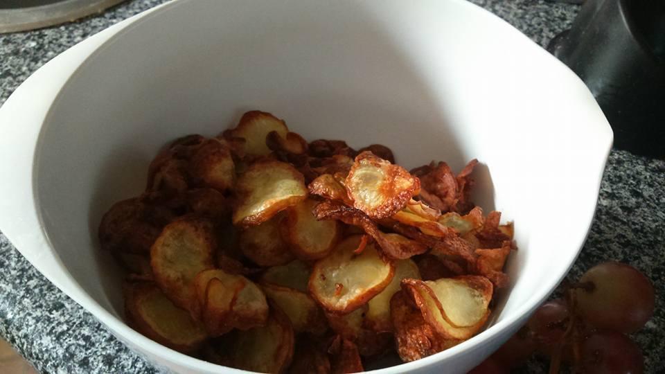 hjemmelavede chips i Actifry